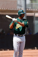Jeremy Barfield  - Oakland Athletics - 2009 extended spring training.Photo by:  Bill Mitchell/Four Seam Images