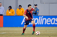 Carlos Bocanegra (3) of the United States. The United States (USA) and Argentina (ARG) played to a 1-1 tie during an international friendly at the New Meadowlands Stadium in East Rutherford, NJ, on March 26, 2011.