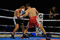 Anthony Fowler stops Gabor Gorbics during a Boxing Show at the Metro Radio Arena on 13th October 2018