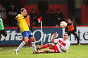 James Dunne of Stevenage tackles Blair Adams of Coventry. Stevenage v Coventry City - npower League 1 - Lamex Stadium, Stevenage - 26th December, 2012. © Kevin Coleman 2012......