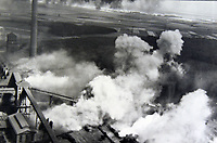 BNPS.co.uk (01202 558833)<br /> Pic:  Tooveys/BNPS<br /> <br /> Taken on 12/08/41 - Daytime attack on the power station at Knapsack, Cologne.<br /> <br /> Dramatic photos showing a series of heart-pounding World War Two bombing raids from the pilot's perspective have come to light.<br /> <br /> They were taken from Blenheim bombers undertaking attacks on targets in Germany and Nazi-occupied Netherlands in 1941.<br /> <br /> Several capture the immediate aftermath of a direct hit, with flames and clouds of smoke signifying they had achieved their aim.<br /> <br /> The album, which contains almost 100 photos, has emerged for sale with Toovey's Auctions, of Washington, west Sussex.