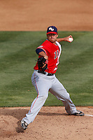 Marco Gonzalez #7 of the Gonzaga Bulldogs pitches against the Loyola Marymount Lions at Page Stadium on March 28, 2013 in Los Angeles, California. (Larry Goren/Four Seam Images)