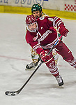 25 November 2014: University of Massachusetts Minutemen Defenseman Jake Horton, a Freshman from North Plymouth, MN, in 3rd period action against the University of Vermont Catamounts at Gutterson Fieldhouse in Burlington, Vermont. The Cats defeated the Minutemen 3-1 to sweep the 2-game, home-and-away Hockey East Series. Mandatory Credit: Ed Wolfstein Photo *** RAW (NEF) Image File Available ***