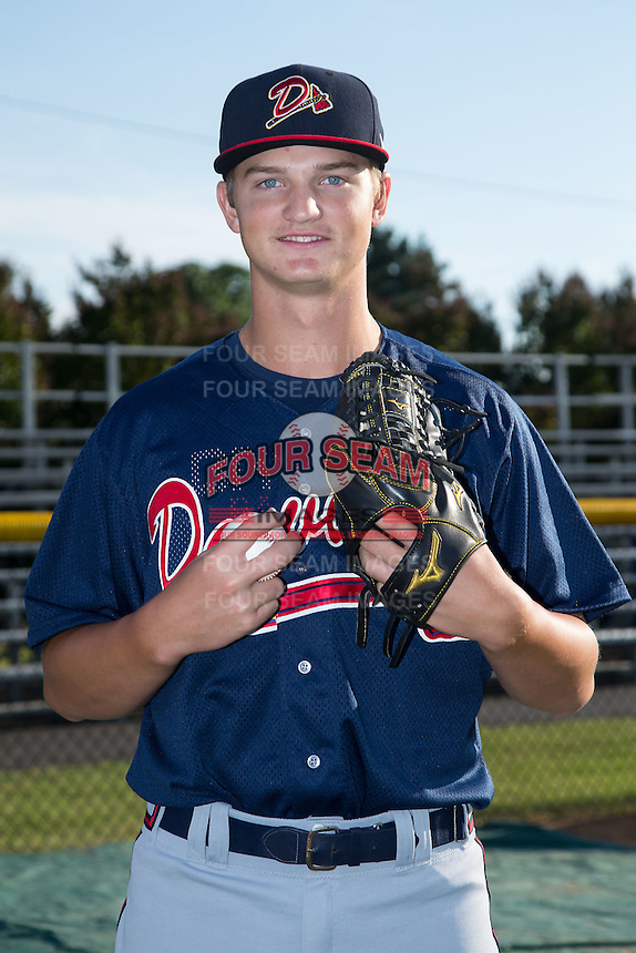 Danville Braves pitcher Mike Soroka (22) poses for a photo prior to the game against the Burlington Royals at Burlington Athletic Park on August 13, 2015 in Burlington, North Carolina.  The Braves defeated the Royals 6-3. (Brian Westerholt/Four Seam Images)