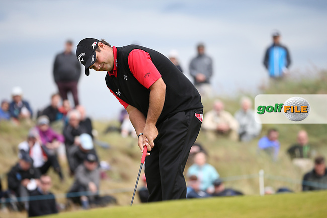 Patrick Reed (USA) during Round One of the 2016 Aberdeen Asset Management Scottish Open, played at Castle Stuart Golf Club, Inverness, Scotland. 07/07/2016. Picture: David Lloyd | Golffile.<br /> <br /> All photos usage must carry mandatory copyright credit (&copy; Golffile | David Lloyd)
