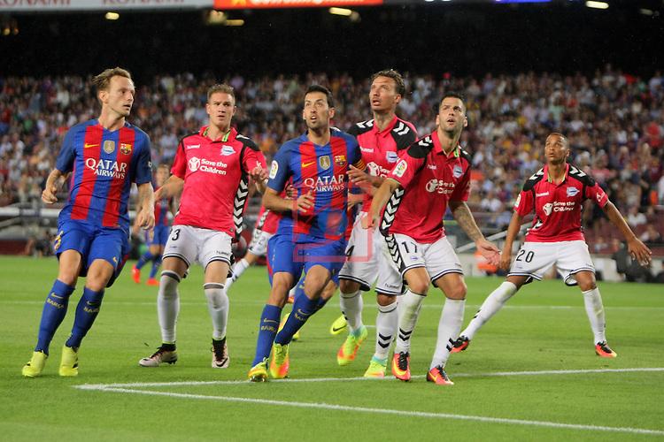 League Santander 2016/2017. Game: 3.<br /> FC Barcelona vs Deportivo Alaves: 1-2.