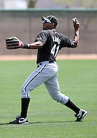 Ozzie Lewis, Chicago White Sox minor league spring training..Photo by:  Bill Mitchell/Four Seam Images.