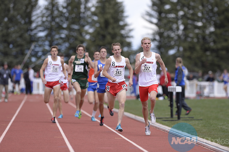 17 MAY 2014: Athletes compete during the Mountain West Conference Men's and Women's Outdoor Track & Field Championship held at the Madrid Sports Complex on the University of Wyoming campus in Laramie, WY.  Justin Tafoya/NCAA Photos