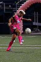 Rochester, NY - Saturday Aug. 27, 2016: Lianne Sanderson during a regular season National Women's Soccer League (NWSL) match between the Western New York Flash and the Houston Dash at Rochester Rhinos Stadium.