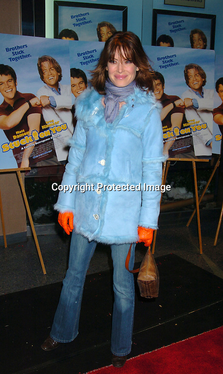 "Lara Flynn Boyle..at a Special Screening of ""Stuck On You"" on December 8, 2003 at the Chelsea West Theatre. Photo by Robin Platzer, Twin Images"