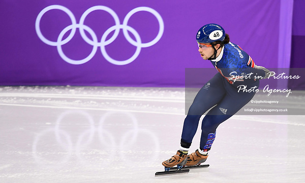Farrell Treacy (GBR). Short track. Gangneung ice arena. Pyeongchang2018 winter Olympics. Gangneung. Republic of Korea. 10/02/2018. ~ MANDATORY CREDIT Garry Bowden/SIPPA - NO UNAUTHORISED USE - +44 7837 394578