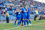 Players of Getafe CF celebrate goal during UEFA Europa League match between Getafe CF and Trabzonspor at Coliseum Alfonso Perez in Getafe, Spain. September 19, 2019. (ALTERPHOTOS/A. Perez Meca)