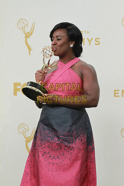20 September 2015 - Los Angeles, California - Uzo Aduba. 67th Annual Primetime Emmy Awards Press Room held at Microsoft Theater. <br /> CAP/ADM/THB<br /> &copy;THB/ADM/Capital Pictures
