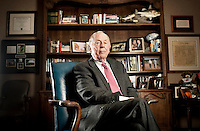Wind and natural gas proponent T. Boone Pickens sits for a portrait in his office in Dallas, Texas, US, Tuesday, Jan., 12, 2009. Pickens is outspoken in his claim that replacing our dependency on oil with US produced natural gas is a matter of national security...PHOTOS/ MATT NAGER