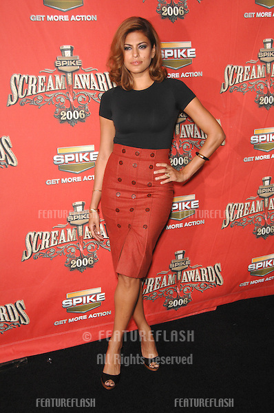 EVA MENDES at the Spike TV Scream Awards 2006 at the Pantages Theatre, Hollywood..October 7, 2006  Los Angeles, CA.Picture: Paul Smith / Featureflash
