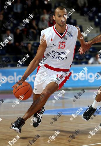2008-01-08 / Basketbal / Uleb Cup / Antwerp Giants - Hapoel Galil Elyon / David Toya (Antwerp)..Foto: Maarten Straetemans (SMB)