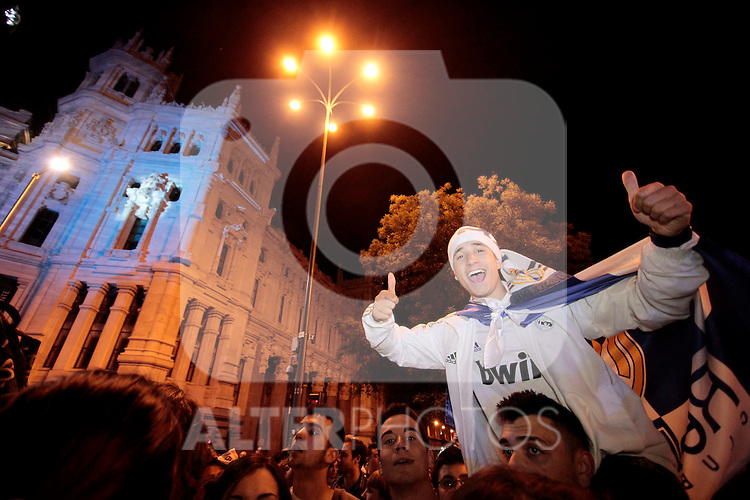 Real Madrid suporter´s celebrate Champions League title in Madrid. May 24, 2014. (ALTERPHOTOS)