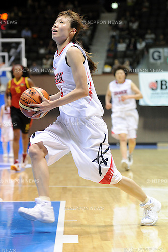 Michiko Miyamoto (JPN),<br /> JUNE 30, 2013 - Basketball :<br /> Reconstruction support of the Great East Japan Earthquake, International friendly match between Japan women's national team 78-61 Mozambique women's national team at Yoyogo 2nd Gymnasium in Tokyo, Japan. (Photo by AZUL/AFLO)