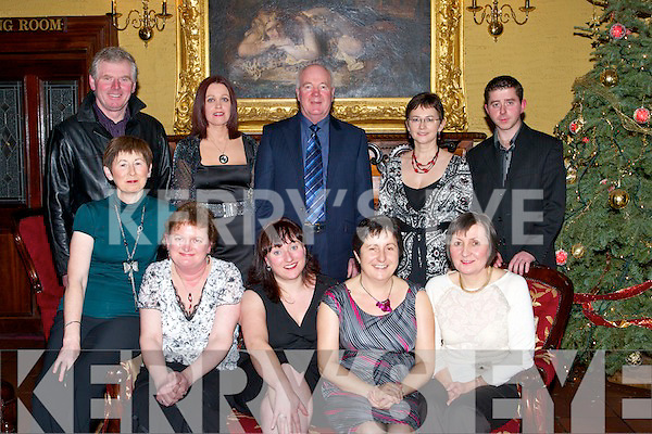 LIBRARY: Library staff from North Kerry who met up to celebrate the Christmas in the Grand Hotel, Tralee on Saturday night. Front l-r: Peggy Hannafin, Irus Conway, Martina Daly, Noreen O'Connor and Aileen Lynch. Back l-r: Tim Carmody, Maria O'Carroll, Jim Glancy, Anne Waldron and Eamon Browne......   Copyright Kerry's Eye 2008