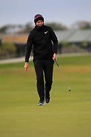 Lucas Bjerregaard (DEN) on the 17th green during round 4 of the Alfred Dunhill Links Championship at Old Course St. Andrew's, Fife, Scotland. 07/10/2018.<br /> Picture Thos Caffrey / Golffile.ie<br /> <br /> All photo usage must carry mandatory copyright credit (&copy; Golffile | Thos Caffrey)