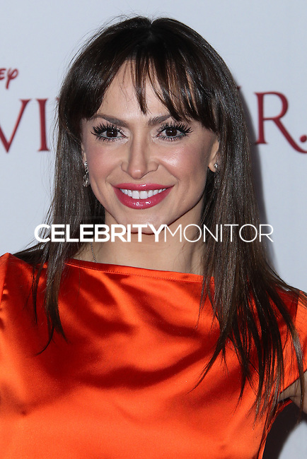 "BURBANK, CA - DECEMBER 09: Karina Smirnoff arriving at the U.S. Premiere Of Disney's ""Saving Mr. Banks"" held at Walt Disney Studios on December 9, 2013 in Burbank, California. (Photo by Xavier Collin/Celebrity Monitor)"