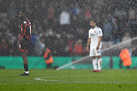 The sprinklers come on during the match two mins before the final whistle during AFC Bournemouth vs Wolverhampton Wanderers, Premier League Football at the Vitality Stadium on 23rd February 2019