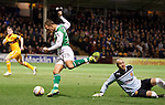 Leigh Griffiths takes the ball around keeper darren Randolph and crosses for Isaiah Osbourne to score