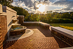The recently added fountain is a welcome addition to the Paris-Yates Chapel courtyard. Photo by Robert Jordan/Ole Miss Communications