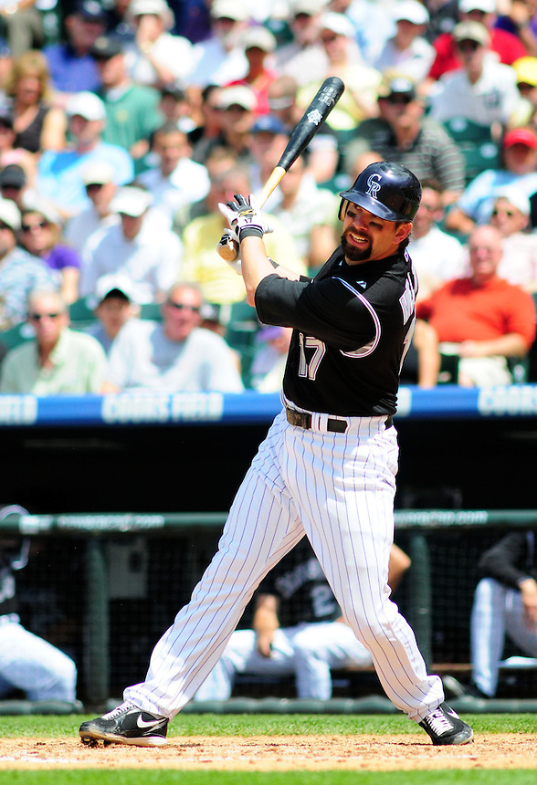 June 18, 2009: Rockies 1st baseman Todd Helton during a game between the Tampa Bay Rays and the Colorado Rockies at Coors Field in Denver, Colorado. The Rockies beat the Rays 4-3.
