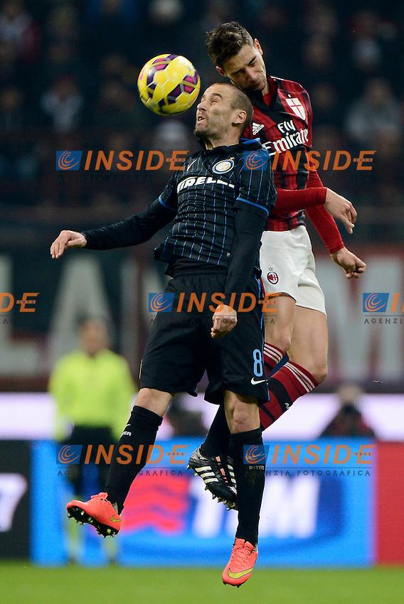 Rodrigo Palacio Inter, Mattia De Sciglio Milan<br /> Milano 23-11-2014 Stadio Giuseppe Meazza - Football Calcio Serie A Milan - Inter. Foto Giuseppe Celeste / Insidefoto