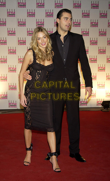 DARIUS DANESH & GIRLFRIEND.Elle Style Awards at the Natural History Museum.London 16 February 2004.full length, full-length, black suit.www.capitalpictures.com.sales@capitalpictures.com.©Capital Pictures