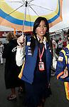Motorsports / Formula 1: World Championship 2008, GP of Britain, Silverstone, Elisabetta Gregoraci (ITA, girlfriend of Flavio Briatore, teamchef ING Renault F1 Team). *** Local Caption *** +++ www.hoch-zwei.net +++ copyright: HOCH ZWEI / Juergen Tap +++