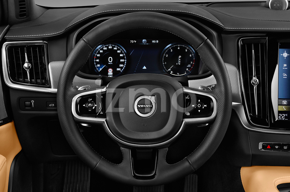 Car pictures of steering wheel view of a 2017 Volvo V90 Corss Country Pro 5 Door Wagon
