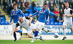 St Johnstone v Inverness Caley Thistle...15.10.11   SPL Week 11.Marcus Haber and Ross Tokely.Picture by Graeme Hart..Copyright Perthshire Picture Agency.Tel: 01738 623350  Mobile: 07990 594431