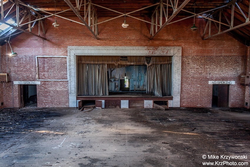 Stage Inside the Auditorium of an Abandoned School, Gilliland, TX
