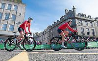 Picture by Allan McKenzie/SWpix.com - 17/05/2018 - Cycling - OVO Energy Tour Series Womens Race - Round 2:Aberdeen - Abigail Dentus and Megan Barker.
