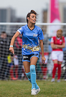 Nancy May Turner (Ex On the Beach) during the SOCCER SIX Celebrity Football Event at the Queen Elizabeth Olympic Park, London, England on 26 March 2016. Photo by Andy Rowland.