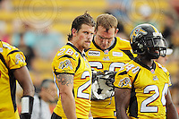 July 12, 2008; Hamilton, ON, CAN; Hamilton Tiger-Cats running back Jesse Lumsden (28) prior to the CFL football game against the Saskatchewan Roughriders at Ivor Wynne Stadium. The Roughriders defeated the Tiger-Cats 33-28. Mandatory Credit: Ron Scheffler.