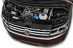 Car Stock 2016 Volkswagen Caravelle Comfortline 5 Door Minivan Engine high angle detail view
