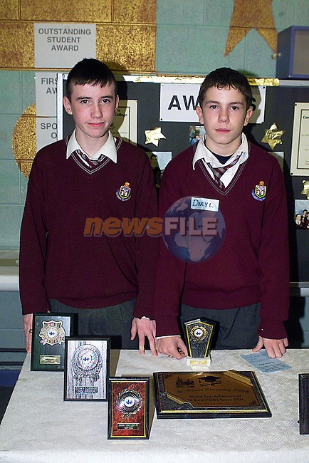 Dorgl McGuinness and Phillip Walsh at The St. Olvers Open Night...Pic Tony Campbell Newsfile