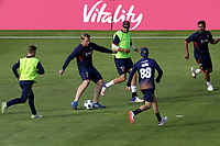 Essex players warm up ahead of Glamorgan vs Essex Eagles, Vitality Blast T20 Cricket at the Sophia Gardens Cardiff on 7th August 2018