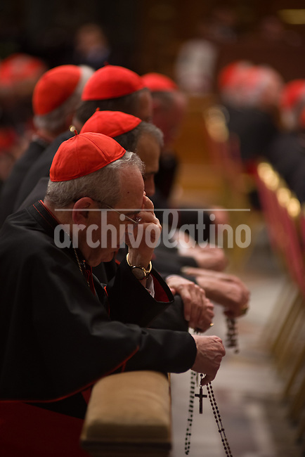 Cardinals during the Vespers Mass at the Vatican, Pope Benedict XVI sucesion