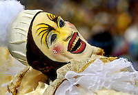 A member of Sao Clemente samba school performs at Sambadrome during the Rio 2009 Carnival parade,  Rio de Janeiro, Brazil, Feb. 21, 2009.
