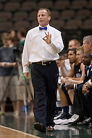 February 24, 2012:   North Florida Ospreys head coach Matthew Driscoll during Atlantic Sun Conference action between the Jacksonville Dolphins and the North Florida Ospreys at Veterans Memorial Arena in Jacksonville, Florida. North Florida defeated Jacksonville 70-64.