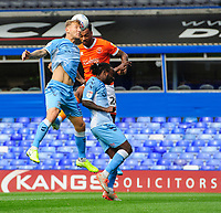 Blackpool's Joe Nuttall vies for possession with Coventry City's Kyle McFadzean, left, and Coventry City's Fankaty Dabo<br /> <br /> Photographer Chris Vaughan/CameraSport<br /> <br /> The EFL Sky Bet League One - Coventry City v Blackpool - Saturday 7th September 2019 - St Andrew's - Birmingham<br /> <br /> World Copyright © 2019 CameraSport. All rights reserved. 43 Linden Ave. Countesthorpe. Leicester. England. LE8 5PG - Tel: +44 (0) 116 277 4147 - admin@camerasport.com - www.camerasport.com