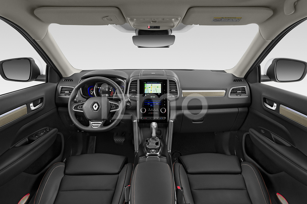 Stock photo of straight dashboard view of a 2020 Renault Koleos Initiale Paris 5 Door SUV