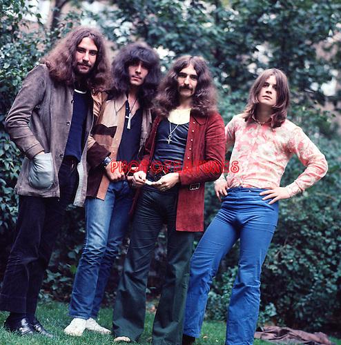 Black Sabbath 1970 Bill Ward, Tony Iommi, Geezer Butler and Ozzy Osbourne.<br />&copy; Chris Walter