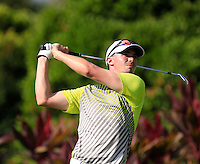 Paul Peterson (USA) on the 4th tee during Round 3 of the Maybank Malaysian Open at the Kuala Lumpur Golf & Country Club on Saturday 7th February 2015.<br /> Picture:  Thos Caffrey / www.golffile.ie