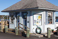 The Harbor Master's office at the public landing in Belfast, Maine.