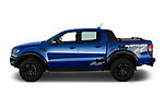 Car Driver side profile view of a 2019 Ford Ranger-Raptor - 4 Door Pick-up Side View